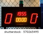 Small photo of LED Score Board Panel in the Indoor Soccer Field at the Night Time