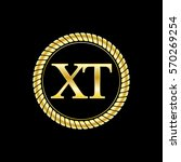 initials x and t logo luxurious ... | Shutterstock .eps vector #570269254