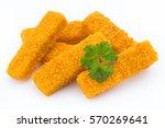 fish fingers on the white... | Shutterstock . vector #570269641