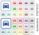 car color flat icons in rounded ... | Shutterstock .eps vector #570274117