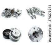 various car parts necessary for ... | Shutterstock . vector #570275395
