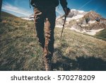 traveler feet hiking in... | Shutterstock . vector #570278209