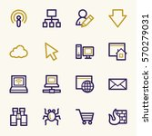 internet web icons set   Shutterstock .eps vector #570279031
