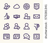 community. social media icons... | Shutterstock .eps vector #570281341