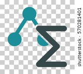 chemical formula icon. vector... | Shutterstock .eps vector #570281401