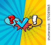 vector quiz isolated logo....   Shutterstock .eps vector #570285865