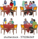 restaurant tables with arab... | Shutterstock .eps vector #570286369