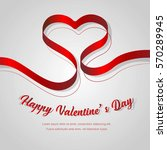 happy valentines day... | Shutterstock .eps vector #570289945