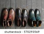 leather men's shoes   Shutterstock . vector #570293569