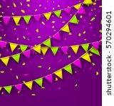 illustration bunting background ... | Shutterstock . vector #570294601