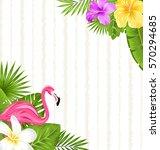 illustration beautiful exotic... | Shutterstock . vector #570294685