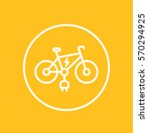 electric bike line icon in... | Shutterstock .eps vector #570294925