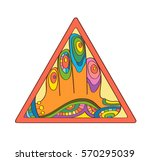 colorful image of a hand....   Shutterstock .eps vector #570295039