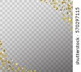 glow light effect and golden... | Shutterstock .eps vector #570297115