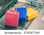 small and colorful paper... | Shutterstock . vector #570297769