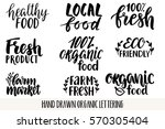 hand drawn eco friendly... | Shutterstock .eps vector #570305404