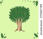 beautiful tree. nature.   Shutterstock .eps vector #570307789
