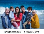 happy family posing at the...   Shutterstock . vector #570310195