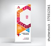 promo banner roll up design ... | Shutterstock .eps vector #570312361