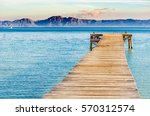 beautiful scenery with jetty at ... | Shutterstock . vector #570312574