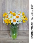 Narcissus Flowers Bouquet In A...