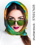fashion close up portrait of a... | Shutterstock . vector #570317635