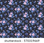 cute floral pattern in the... | Shutterstock .eps vector #570319669