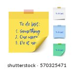 color realistic vector sticky... | Shutterstock .eps vector #570325471
