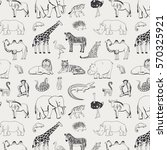 african animals graphic pattern | Shutterstock .eps vector #570325921