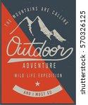 vintage vector of wilderness... | Shutterstock .eps vector #570326125
