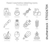 food and cosmetics labeling... | Shutterstock .eps vector #570326704