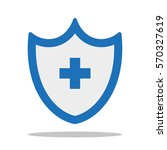 health insurance. icon. flat... | Shutterstock .eps vector #570327619