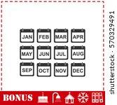 calendar icon flat. simple... | Shutterstock . vector #570329491