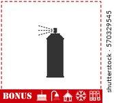 spray icon flat. simple... | Shutterstock . vector #570329545