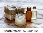 set of organic cosmetic... | Shutterstock . vector #570334651