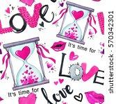 valentines day seamless pattern....   Shutterstock . vector #570342301