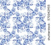 seamless pattern with flowers... | Shutterstock . vector #570342955