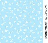 vector floral seamless pattern... | Shutterstock .eps vector #570342991