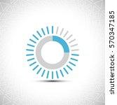 progress indicator bar. load... | Shutterstock .eps vector #570347185
