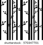 abstract trees on a flat... | Shutterstock .eps vector #570347701