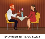 couple in love  romantic... | Shutterstock .eps vector #570356215
