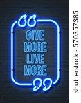 give more live more   vintage... | Shutterstock . vector #570357385