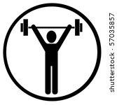 lifting weights   Shutterstock . vector #57035857