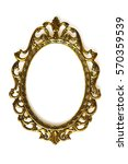empty baroque picture frame... | Shutterstock . vector #570359539