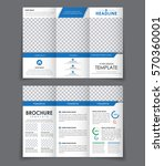 design triple brochure with... | Shutterstock .eps vector #570360001