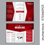 design folding brochure with... | Shutterstock .eps vector #570360925