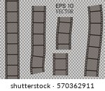 set of vector film strip... | Shutterstock .eps vector #570362911