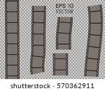 set of vector film strip... | Shutterstock .eps vector #570362911