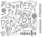 illustration set of cosmetics ... | Shutterstock .eps vector #570365134