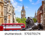 London Trafalgar Square In Uk...